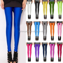 2015 OEM Wholesale Womens usa Ladies Solid Full Length Seamless Stretch Basic Sexy Footless Stockings Long Pants Always Leggings