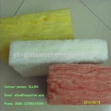 Thermal insulation colour glass wool,glass wool roll in pink colour
