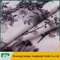 floral with birds pattern 230T taffeta print lining fabric for women's clothes