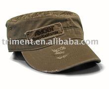 Gorra militar lavada envejecida 100% de algodón