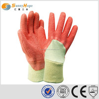 SUNNYHOPE pink knit Latex Palm Coated safety Glove