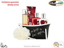 Plastic mini bathtub as gift - BC-0004(Black and White Storage Box For Bath Products + Logo)