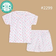 BABY wholesale baby short sleeve top+ short pant kids clothing with dots printing