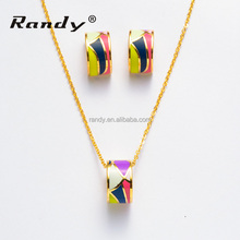 New Design Colorful Enamel Jewelry Sets Colorful Necklace&Earring