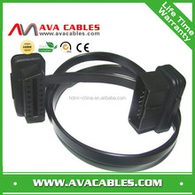 OBD extention cable OBD II male to female diagnostic cable OBD cable for car