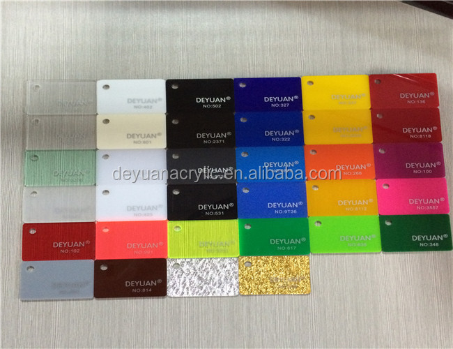 Customized Size Thickness Colored Acrylic 10mm Glass Sheet With ...