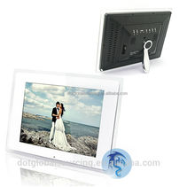 "Wholesae 12"" White LCD Digital Photo Picture Frame Display Wide Screen Multi-functional With MP3 Media Player +SD Card/Remote"