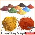 95% ferro pigmento de óxido de ferro vermelho tijolos/amarelo/preto/marrom/verde de óxido de ferro fórmula química para o concreto