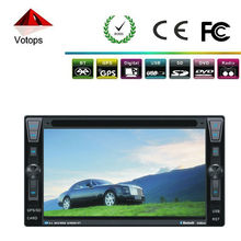 Dashboard universal 2 din car audio with stereo radio DVD player