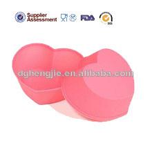 de alta calidad en forma de corazón de silicona del molde de pastel decoración herramientas