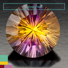 6ct BiColor Ametrine 15mm Round cut Manufactures Suppliers In India Natural Semi Precious 100% Genuine Gemstones