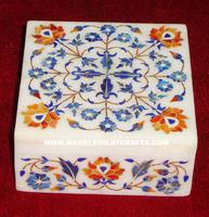 Jasmine Garland Fair Trade Jewellery Marble Inlay Jewellery Box