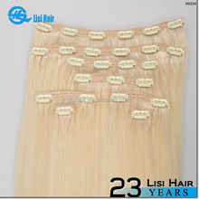 """Hot New Items 2015 Own Brand Wholesale Distributors Quality Product 34"""" virgin malaysian hair clip in"""