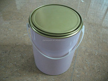 5L gallon round metal chemical paint tin pail with handle tripletite