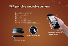 newest 1mp HD 1080P WIFI leather video belt hidden camera with android and IOS APP,wireless belt mini camera rechagre battery