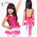 de baile latino de rendimiento vestido para los niños ropa de niño vestido de baile latino desgaste de la danza