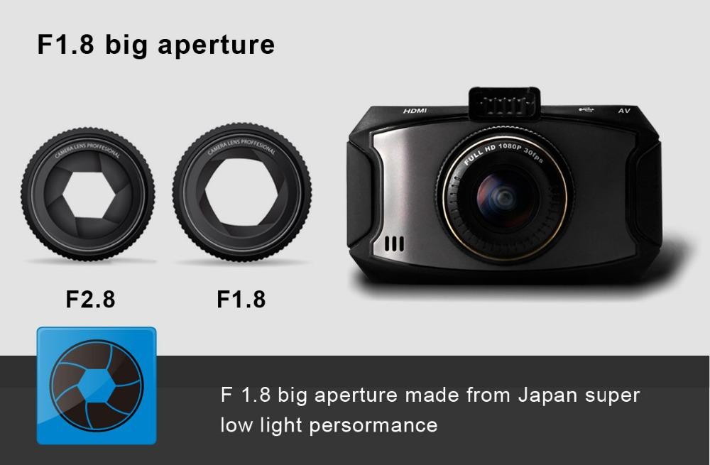 Super HD 1296 P véhicule Dash caméra BlackBox avec Ambarella A7LA50 Chipset et HDR ADAS et LDWS et FCWS fonction
