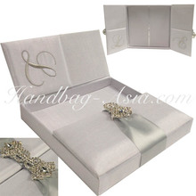 White Wedding Invitation Box