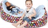 multifunction 2 in 1 baby bean bag sofa seat, kids waterproof beanbag feeding chairs