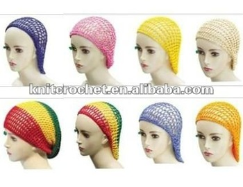 Crochet Hair On Net Cap : Snood Crocheted Hair Net Buy Hair Net Decorative Hair Nets Snood