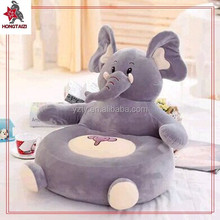 Newest stuffed and plush elelphant design soft sofa for kids