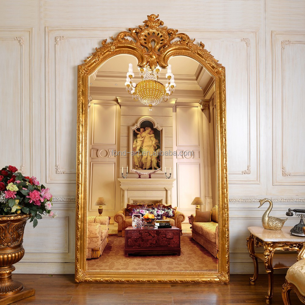 Antique european style framed mirror bedroom mirror living for Fancy mirrors for bedrooms