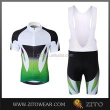 Wholesale customer cycling mens set/cycling bib knicks pakistan/coolmax plus size womens cycling jersey
