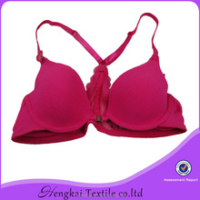 pink T-shirt cotton\elastane with lace heated bra