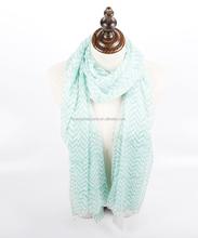 2015 fashion Spring voile Zigzag chevron stole scarves