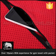 Branded bags china funny gifts gym towel with pocket