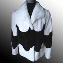 2012 Ladies' genuine Beaver Rabbit Fur jacket,fur garment,fur coat