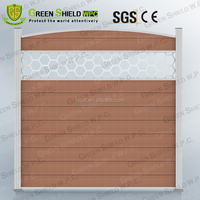 WPC/Wood Plastic Fence/Enclosure Wall 1.8m/2.0m/arc top rail/figured/glass