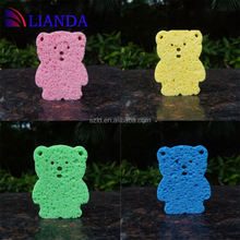 Can be used to clean most of old dust and stain bathroom sponge, Compressed cartoon shape sponge, scouring sponge
