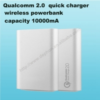 Qualcomm2. quick charger Portable power bank wirelesss power bank charger for cell phone S6 note5 Factory wholesal OEM