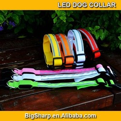 Dog Cat LED Pet Double Reflective Strips Collar Provice Safety Bright Light in Dark Outdoor Collar DC2517