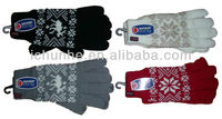 popular soft warm fashion winter acrylic jacquard knit glove made by circle machine