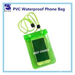 transparent mobile waterproof bag neck hanging bag