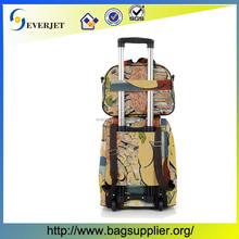 Fabric And Soft Travel Luggage Bag Vintage Style Suitcase Trolley In Usa&Euro&Jp&Turkey&Russia travel trolley luggage bag