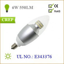UL 6W High Power Reflector Candlelabra base led candle bulb