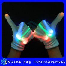 Economic Best-Selling Flashing Blue Color Led Gloves