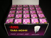 Daichi E-14 15watt 220-240V Clear Fluorescent bulbs