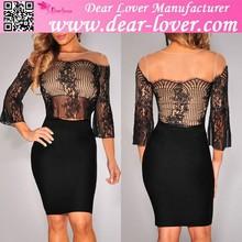 Encantador atractivo maduro 2015 nuevo diseño ropa vestido atractivo de la mujer