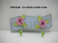 Shabby Chic Vintage Style Metal Rose Coat Hook Rack Accessory & Gift