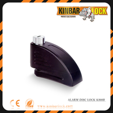 Motorcycle alarm disk brake lock