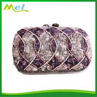 metal gold leather clutch bag for apple ipad mini with stones