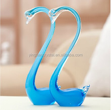 Crystal lovely swan for wedding door gift,crystal decorative lovely swan