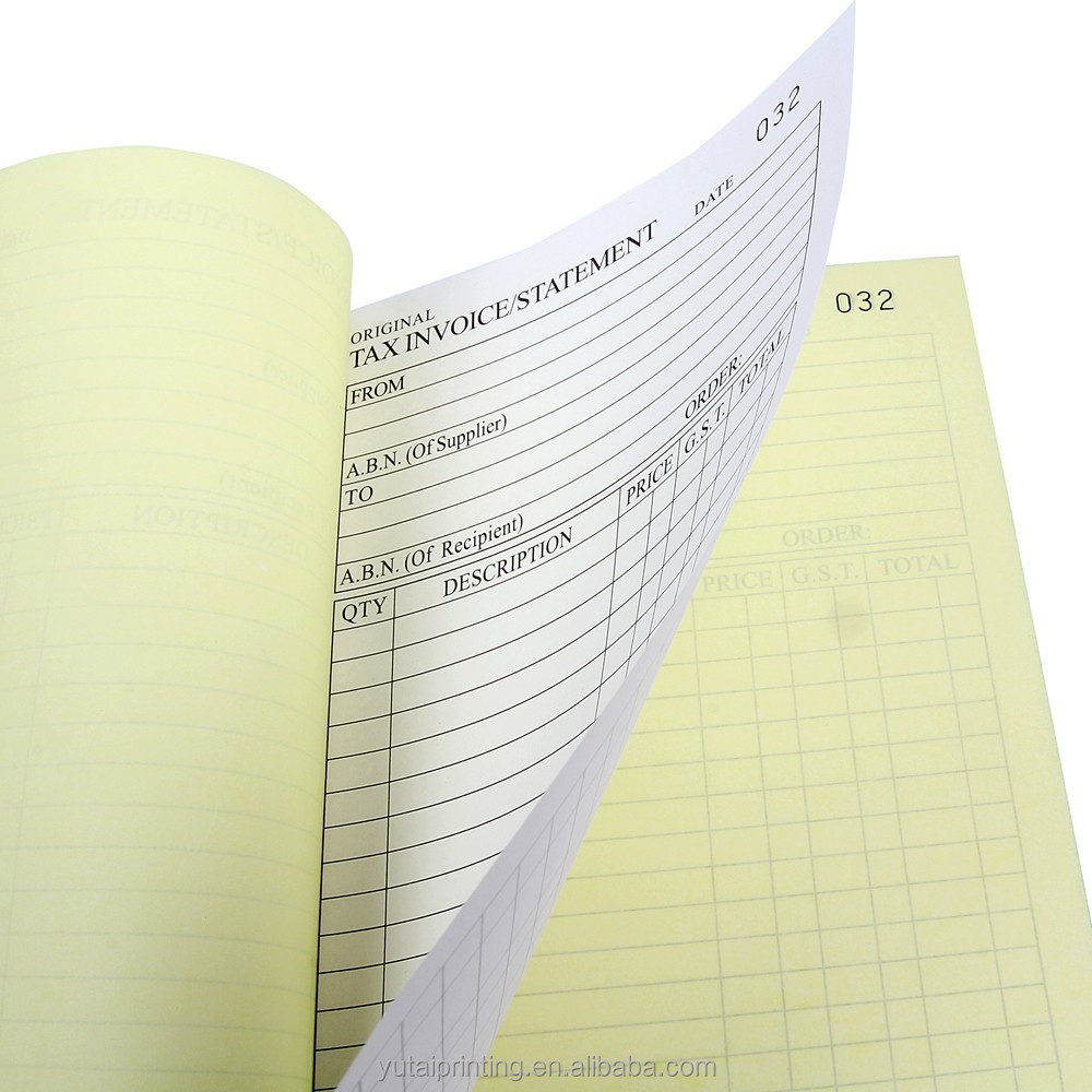 Carbonless Paper Invoices Custom Ncr Carbonless Paper