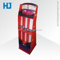 OEM film display racks and free stands attractive advertisement floor display shelf