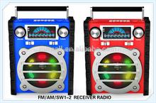 portátil 2014 fm colorido mw sw de radio de banda