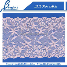 Beautiful design Elastic Embroidery Nylon Chopper bar Lace Trimming For Women Cloth/Lingeries